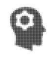 head gear halftone dotted icon vector image