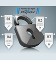 infographic lock icon vector image vector image