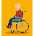 insurance man elderly healthy design vector image vector image