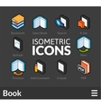 Isometric outline icons set 44 vector image vector image