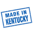 Kentucky blue square grunge made in stamp vector image vector image