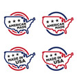 made in america label set 01 vector image vector image