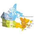 map provinces and territories canada vector image vector image