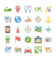 maps and navigation flat icons set 2 vector image