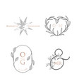 monogram wedding luxury collection modern vector image