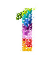 number 1 from butterfly vector image vector image
