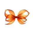 orange transparent bow top view on background vector image vector image
