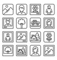 photo picture icons set on white background line vector image vector image