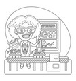 quality inspector coloring page vector image vector image