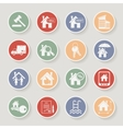 Real estate round icon set vector image
