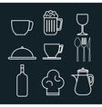 restaurant menu set icons vector image vector image