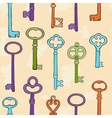 Retro keys pattern vector image