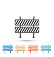 road barrier icon isolated on white background vector image