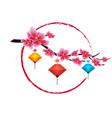 sakura flowers background cherry blossom and vector image vector image