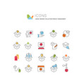 set line icons product management vector image vector image