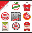 set signs for sale vector image vector image