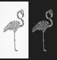 silhouette of the heron of their ornate shapes vector image vector image