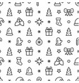simple christmas seamless pattern with symbols vector image vector image