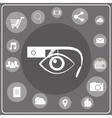 Smart glasses white icon vector image vector image