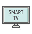 smart tv colorful line icon household appliance vector image vector image