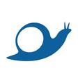 snail logo design design vector image
