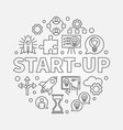 start-up circular startup vector image vector image