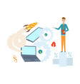 startup concept research vector image