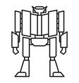 super robot transformer icon outline style vector image vector image