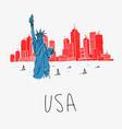 symbol america statue liberty vector image vector image