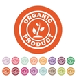 The organic product icon Eco and bio ecology vector image vector image