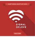 The signal for love logo icon vector image vector image