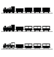train black silhouette vector image