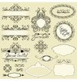 Vintage ornaments and frames vignettes calligraphi vector image vector image
