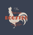 vintage rooster logo for dairy and meat business vector image