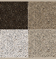 webset of seamless textures of terrazzo stone of vector image vector image