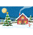 year winter landscape vector image vector image