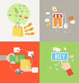 Element of shopping icon in flat design vector image