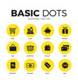 shoping flat icons set vector image