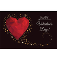 Holiday card for a happy Valentines Day vector image