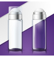 3d advert glass deodorant bottles vector image vector image