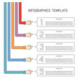 Abstract 5 steps infographic template in flat
