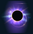 abstract shining in space solar eclipse vector image vector image