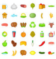 agriculture property icons set cartoon style vector image vector image