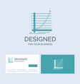 arrow chart curve experience goal business logo vector image vector image