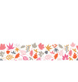 autumn leaves seamless border scandinavian vector image vector image