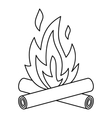Bonfire icon outline style vector image vector image