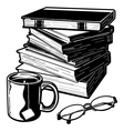 Books and Stuff vector image vector image