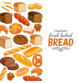 bread products template page vector image
