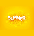 bright yellow summer background the inscription vector image vector image