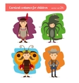 Children costumes vector image vector image